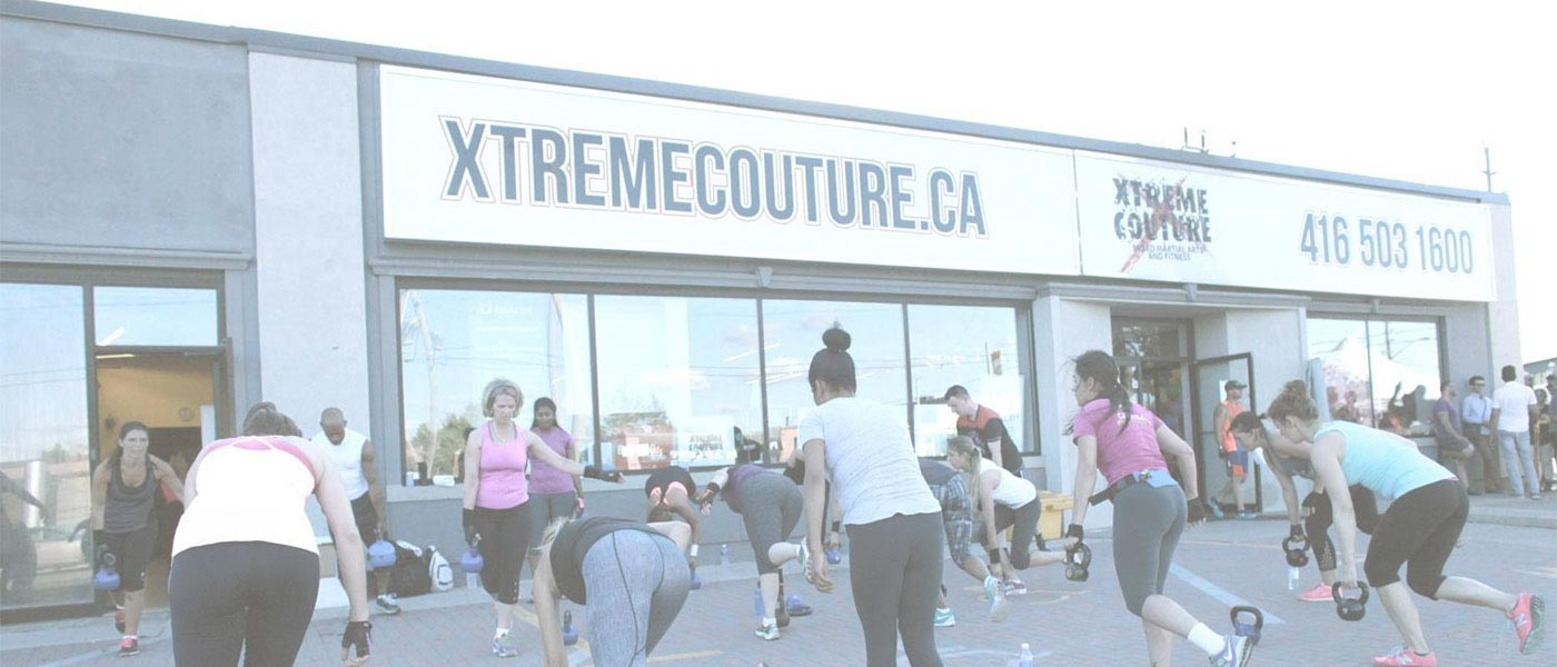 Fitness Class Held outside Xtreme Couture
