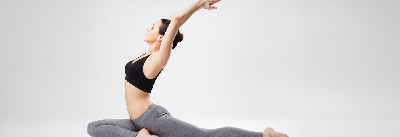 Woman Stretching, Pigeon Pose