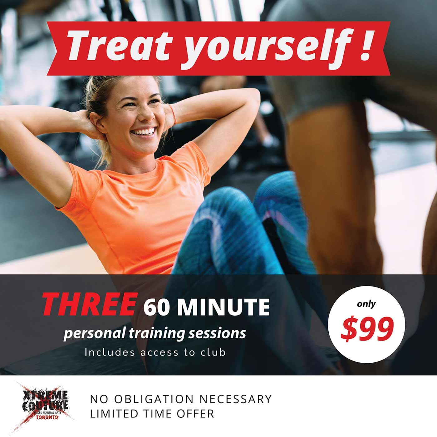 Treat Yourself. 3 sessions just $99